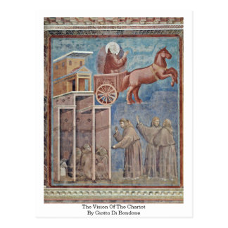 The Vision Of The Chariot By Giotto Di Bondone Postcard