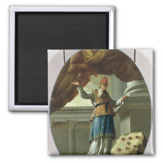 The Vision of Zechariah 2 Inch Square Magnet
