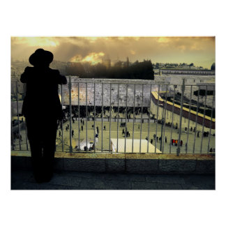 The vision over Western Wall, Jerusalem. Israel Posters
