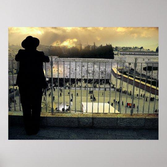 The vision over Western Wall, Jerusalem. Israel Poster