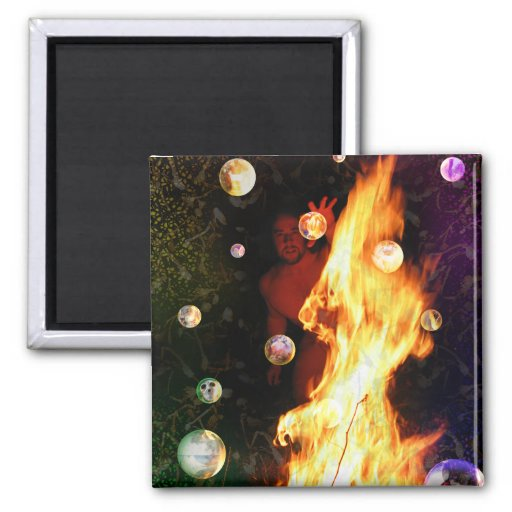 The Visionary Tarot Card Art 2 Inch Square Magnet