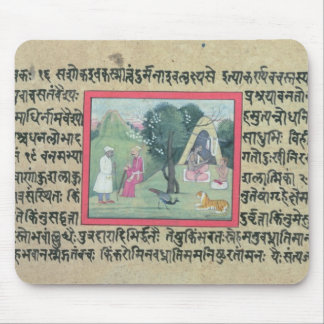 The visit of a Rajput chief to a hermit from a pag Mouse Pad