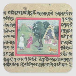 The visit of a Rajput chief to a hermit from a pag Sticker