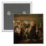 The Visit of a Sorcerer to a Peasant Wedding 2 Inch Square Button