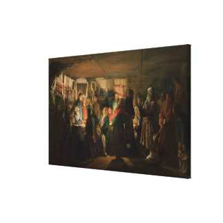 The Visit of a Sorcerer to a Peasant Wedding Canvas Print