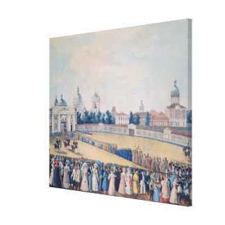 The Visit of Alexander I  to the Alexander Canvas Print