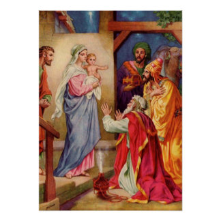The Visit of the Wisemen Christmas Art Posters