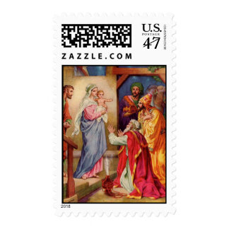 The Visit of the Wisemen Religious Christmas Stamp