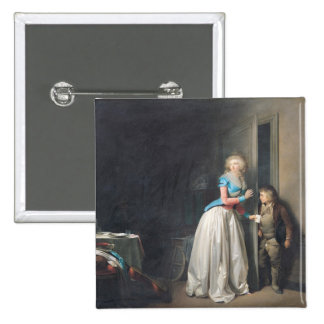 The Visit Received, 1789 2 Inch Square Button