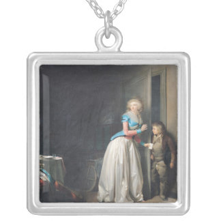 The Visit Received, 1789 Square Pendant Necklace