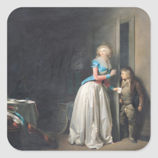 The Visit Received, 1789 Sticker