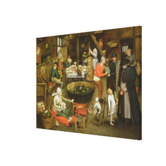 The Visit to the Farm Canvas Print