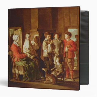 The Visit to the Grandmother (oil on canvas) Binder