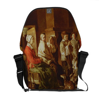 The Visit to the Grandmother (oil on canvas) Courier Bag