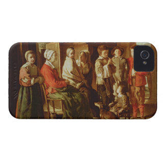 The Visit to the Grandmother (oil on canvas) iPhone 4 Case