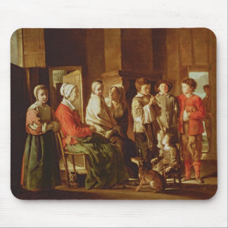 The Visit to the Grandmother (oil on canvas) Mouse Pad