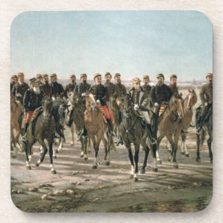 The Visit to the River Negro by General Julio Arge Drink Coasters