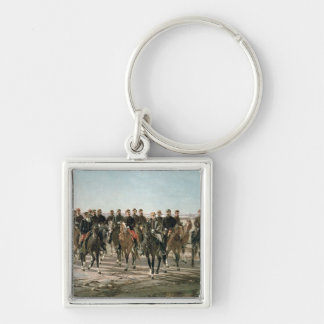 The Visit to the River Negro by General Julio Arge Silver-Colored Square Keychain