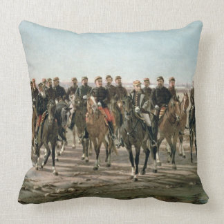 The Visit to the River Negro by General Julio Arge Throw Pillow