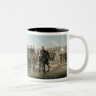 The Visit to the River Negro by General Julio Arge Two-Tone Coffee Mug