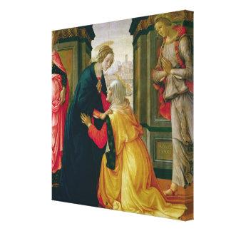 The Visitation, 1491 Canvas Print