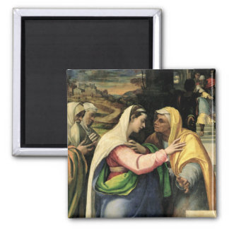 The Visitation, 1519 2 Inch Square Magnet