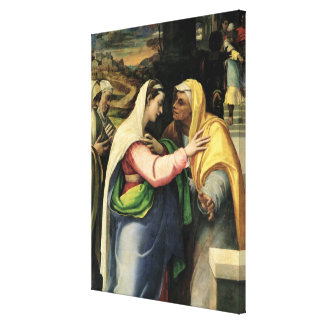 The Visitation, 1519 Canvas Print