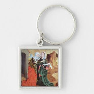The Visitation, c.1460 Keychain