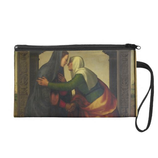 The Visitation of St. Elizabeth to the Virgin Mary Wristlet Clutch