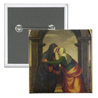 The Visitation of St. Elizabeth to the Virgin Mary Button