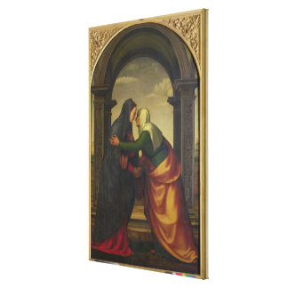 The Visitation of St. Elizabeth to the Virgin Mary Canvas Print