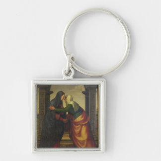 The Visitation of St. Elizabeth to the Virgin Mary Keychain