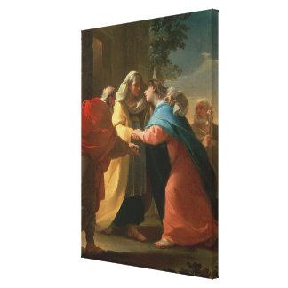 The Visitation (oil on canvas) Canvas Print