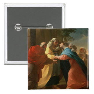 The Visitation (oil on canvas) Pinback Button