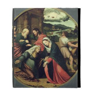 The Visitation (oil on panel) 2 iPad Folio Cases