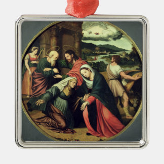 The Visitation (oil on panel) 2 Metal Ornament