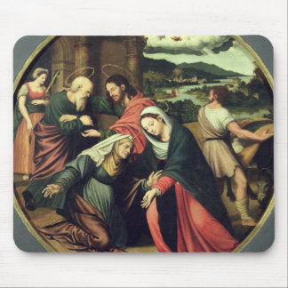 The Visitation (oil on panel) 2 Mouse Pad