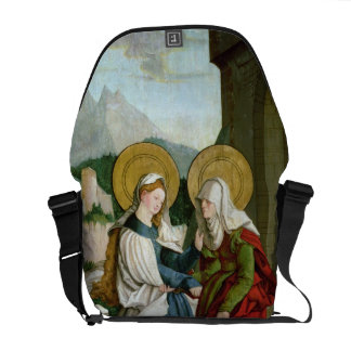 The Visitation (oil on panel) Messenger Bag