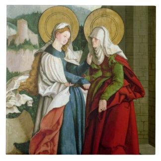 The Visitation (oil on panel) Tile