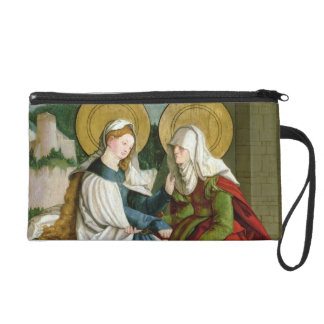 The Visitation (oil on panel) Wristlet Purse