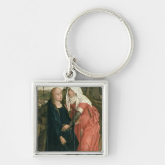 The Visitation Silver-Colored Square Keychain