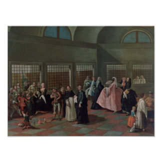 The Visiting Parlour in the Convent Poster