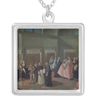 The Visiting Parlour in the Convent Silver Plated Necklace