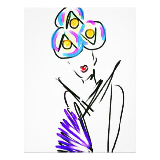 The Visitor Fashion Illustration Letterhead