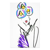 The Visitor Fashion Illustration Stationery