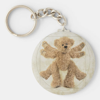 The Vitruvian Bear Key Chain