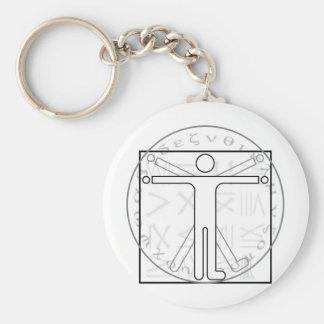 The Vitruvian Circle Keychains