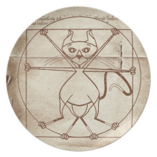 The Vitruvian Kitty Plate