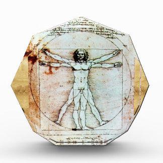 THE VITRUVIAN MAN Antique Parchment Acrylic Award