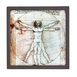 THE VITRUVIAN MAN Antique Parchment Gift Box